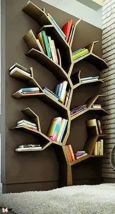 Great book storage solution.  Would the kids climb it?