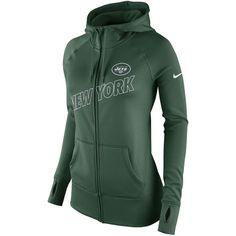 30e3af90e New York Jets Nike Women's Stadium Game Day KO Full Zip Performance Hoodie  - Green