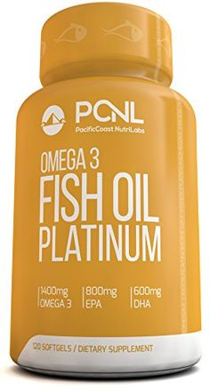 PacificCoast NutriLabs 2000mg Fish Oil, 1,400mg Omega 3, 800mg EPA, 600mg DHA, Free Ebook, 120 Count * Continue to the product at the image link.