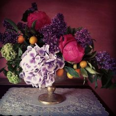 Lilacs and...kumquats? Gorgeous from Falls Flowers