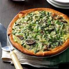 Mushroom Asparagus Quiche Recipe from Taste of Home
