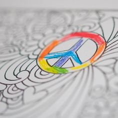 74/365 Of all the things on the page he colored this and only this. <3 We need more of it in the world! #PeaceLoveAndRainbows #macros #365 #365Project #nikon #nikond810 #colors #peace