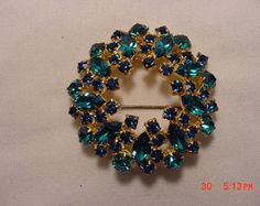 Items similar to Chunky gemstone beach style blues rhinestone bling perfect stretch layering bracelet from MarleeLovesRoxy on Etsy