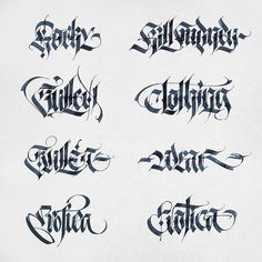 "783 Likes, 10 Comments - Alexander Shimanov (@alexshimanov) on Instagram: ""Parallel pen sketches  #calligraphy #letters #handstyle #gothic #parallelpen"""