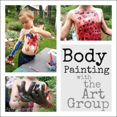 Kids Art Activity:  Body Painting with the Childrens Art Group