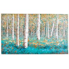 Luxe Teal Birch Tree Art from Pier 1 Teal Wall Art, Teal Artwork, Birch Tree Art, Birch Trees Painting, Painted Trees, Ouvrages D'art, Unique Wall Art, Autumn Art, Landscape Art