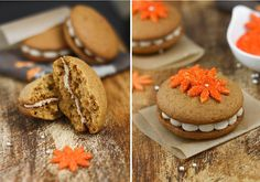 Sweet Potato Whoopie Pies with Maple Marshmallow Creme