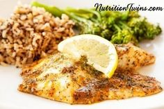 Blackened Wild Flounder | Savory, Bursts with Flavor! | Only 94 Calories | Perfect to Keep You Satisfied | For MORE RECIPES, fitness & nutrition tips please SIGN UP for our FREE NEWSLETTER www.NutritionTwins.com