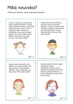 Tunnetaidot - Värinautit Learn Finnish, Finnish Language, Becoming A Teacher, Early Childhood Education, Occupational Therapy, How To Become, Teaching, Feelings, Comics