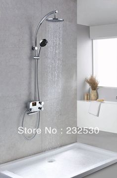 """... Shower set Chrome Finish Thermostatic Shower Faucet with 8"""" Showhead"""