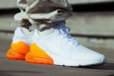 39ba534c4ce3 WMNS Nike Air Max 270 AH8050-102 White Total Orange. Orange Trainers ...