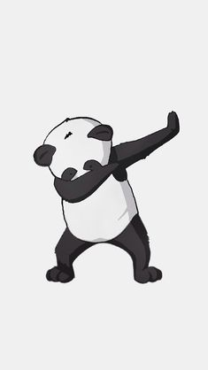 Yo it's a dabbing panda. Dab on bro