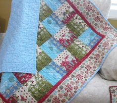 Christmas Quilt For  Baby Toddler or Lap Throw by bobann23 on Etsy, $135.00