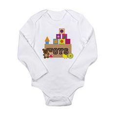 Toy Box Long Sleeve Infant Bodysuit
