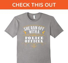 Mens She Ran Off with A Police Officer Breakup T-Shirt 2XL Slate - Careers professions shirts (*Amazon Partner-Link)