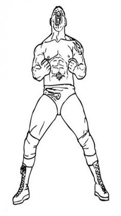 wwe wwf wrestling john cena raw kids coloring pages free colouring pictures