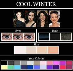 A Cool Winter, as with most seasons can have any eye colour. The difference is the tone. Cool Winter's have a cooler version of any colour