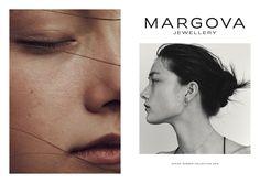 Nicolas Kantor photographs the SS16 lookbook for Margova Jewellery, ft. Yumi Lambert