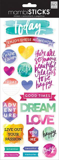 Me+and+My+Big+Ideas+-+MAMBI+Sticks+-+Clear+Stickers+-+Painted+Carpe+Diem+at+Scrapbook.com