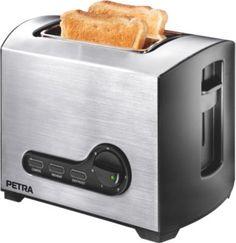 Mit dem Petra TA 52.35 Belluno Toaster kann man sowohl toasten als auch auftauen und erwärmen. Im Toaster finden zwei Toastscheiben gleichzeitig ihren Platz und auf dem integrierten Brötchenaufsatz können bequem die Brötchen aufgefrischt werden.