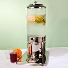 "Choice 1.8 Gallon Single Beverage Dispenser – 13 3/4"" x 8 7/8"" x 22 3/4"