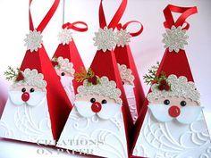Santa Petal Cone Box ~Tutoral