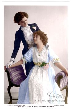 booboogbs:    Miss Lily Elsie and Miss Adrienne Augarde in the Edwardian play the New Aladdin 1906