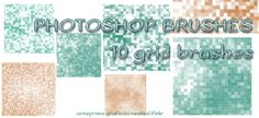 PHOTOSHOP BRUSHES: 10 grid free download