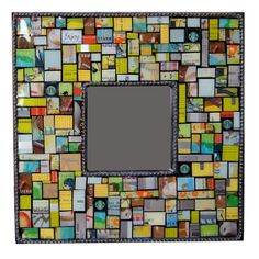 Mosaic using recycled Starbucks cards