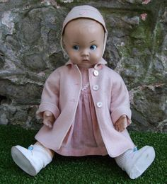 LENCI 1930's 1940's PROSPERITY BABY DOLL ALL ORIGINAL CLOTHES GIRL