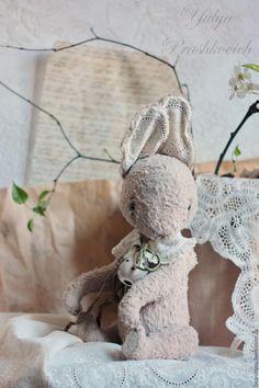 Купить Пасхальный зайка большой - бежевый, зайка, кролик, зайка тедди, кролик тедди, пасхальный подарок
