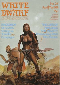 White Dwarf 24 - April/May Dave Pether, Fantasy Heroes, Fantasy Rpg, Fantasy Characters, Pulp Magazine, Book And Magazine, Magazine Covers, Rpg World, Sword And Sorcery, Dragon Art