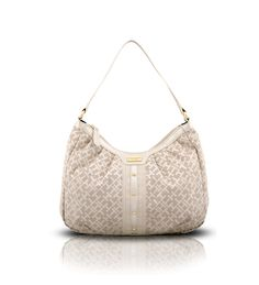 Tommy Hilfiger Logo Cream Shopper Bag on glamouronthego.co.uk