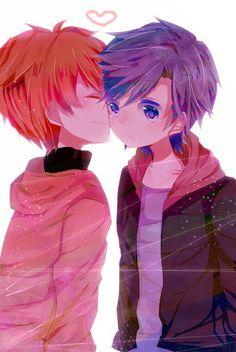 Uta no☆prince-sama♪, Ittoki Otoya, Ichinose Tokiya, Red Hoodie, Kiss On The Cheek