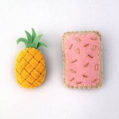 Pineapple felt pin/ brooch. PopTart felt pin/ by LoveCraftPlushies