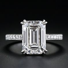 OMG! gorgeous from every angle!! 4.00 Carat Emerald-Cut Diamond Engagement Ring