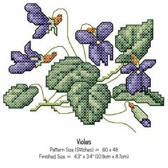 Printable Cross Stitch Pattern - Viola [CSA1426] : The Printable Craft Shop - Printable Cards, Craft Kits and Craft Supplies, Quality Craft Supplies for Instant Download