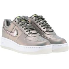 lowest price 9db59 78991 Air Force 1 Sneakers (970 SEK) ❤ liked on Polyvore featuring shoes,  sneakers, dark stucco, leather sneakers, nike sneakers, leather platform  shoes, ...