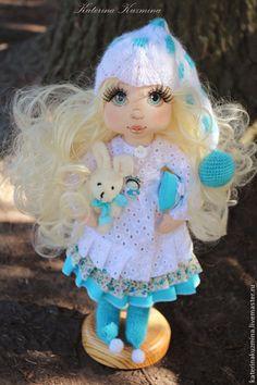 Ангелочек сладких снов. Авторская куколка - бирюзовый,ангел,ангелочек