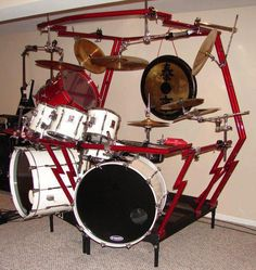 Not quite my style, but I really like the setup! Drums Beats, Drumline, How To Play Drums, Double Bass, Snare Drum, Beautiful Guitars, Drum Kits, Musical Instruments, Drummers