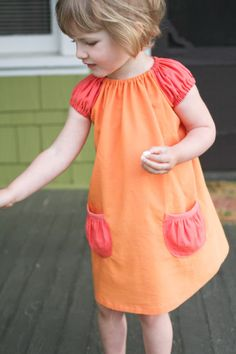 girls dress - love the puffy pockets