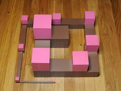 Wonderful Montessori Pink Tower and Brown Stair extensions, from the My Montessori Story blog!