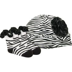 Baby Deer Zebra Print Socks and Hat Set. Baby Deer Zebra Print Socks and Hat Set. See More Outerwear at http://www.ourgreatshop.com/Outerwear-C200.aspx