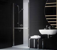 Mampara 100% abatible y accesible - Mamparas ducha y baño Duscholux - MODERNA ® Baños adaptados