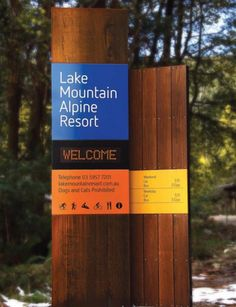 Sinalização Lake Mountain | Núcleo de Design Gráfico Ambiental - NDGA