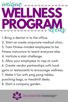 8 Creative Wellness Program Ideas You Need to Consider - Health and Wellness Wellness Shots, Wellness Fitness, Wellness Tips, Health And Wellness, Employee Wellness Programs, Employee Handbook, Health Fair, Workplace Wellness, Wellness Activities