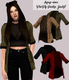 Firefly Parka Jacket at Lumy Sims • Sims 4 Updates