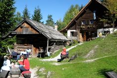A typical mountain hut in Slovenia.