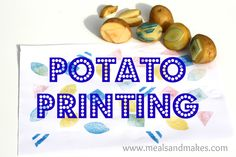 Potato stamps: carve shapes in new potatoes and stamp into paint to make some lovely artwork!