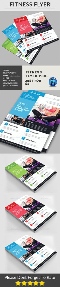 Fitness Flyer Business flyers, Template and Flyer printing - fitness flyer